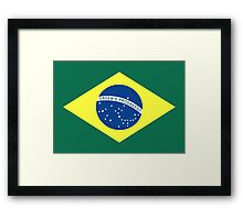 Brazil, national id Framed Print