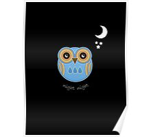 Night Night Blue Owl Poster