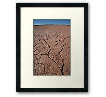 Sun and land Framed Print