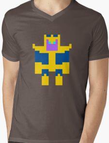 8-Bit Thanos Mens V-Neck T-Shirt