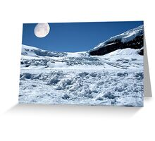 Moonshine on the Columbia Icefields, Alberta. Canada. Greeting Card