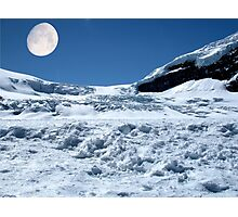 Moonshine on the Columbia Icefields, Alberta. Canada. Photographic Print