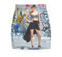 Graffiti Model Pencil Skirt