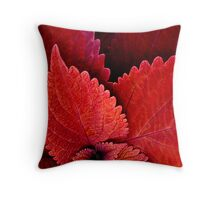 Serration in Red Throw Pillow