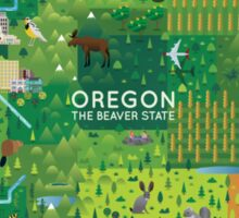 Oregon Map Sticker