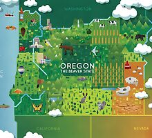 Oregon Map by MeghanS