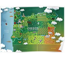 Oregon Map Poster