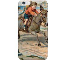 Seaside Fun of Yesteryear iPhone Case/Skin