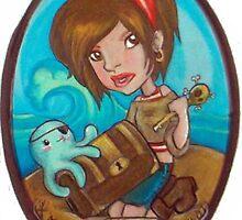 Pirate illustration by Katlandia
