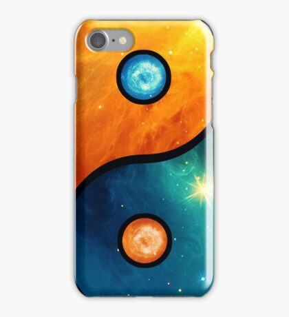Yin Yang, Space, Cosmos, Galaxy, Universe, Outerspace iPhone Case/Skin