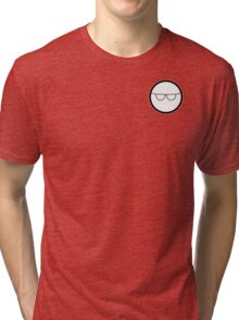 Cartoon Face 1 - Bloke with specs [Small] Tri-blend T-Shirt