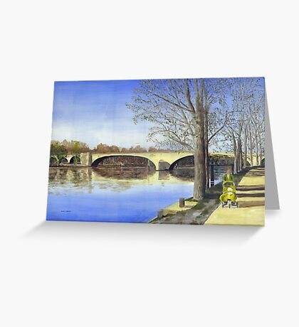 Rhone In spring Greeting Card