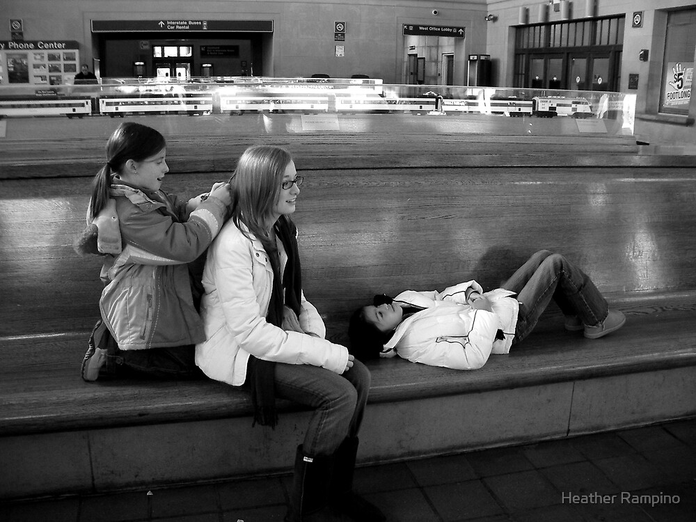 Waiting for the Train by Heather Rampino