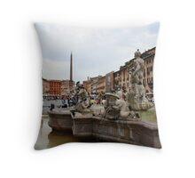 Piazza Navona Throw Pillow