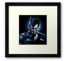 """BATMAN """"THE DARK JOKE"""" Framed Print"""