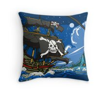 The Pirate's Ship Throw Pillow