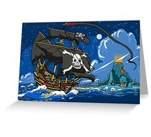 The Pirate's Ship Greeting Card