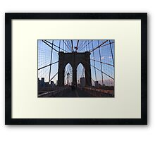 Bridge over troubled water (colour) Framed Print