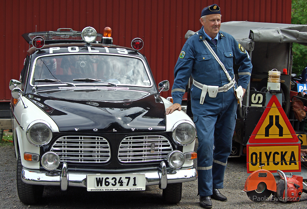 Old swedish police car by Paola Svensson