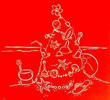 Australian Christmas in Red by Gudrun Eckleben