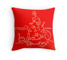 Australian Christmas in Red Throw Pillow