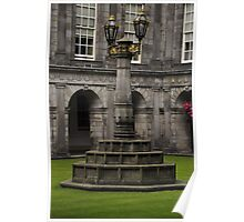 The quadrangle light, Holyrood Palace. Poster