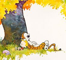 sleeping cute calvin hobbes by botolzena