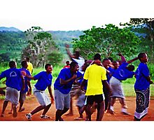Joy of a Goal! Photographic Print