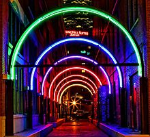 Dallas West End Neon Rainbow by Warren Paul Harris