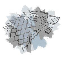 House Stark brushed Logo by eelagreen
