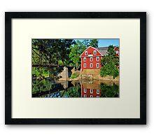War Eagle Mill and Bridge, Arkansas Framed Print