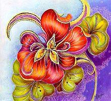 Paisley Nasturtium by Alma Lee