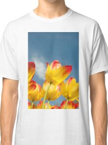 Yellow and Pink Tulips Classic T-Shirt