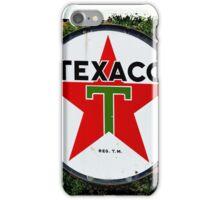 Round Texaco Sign iPhone Case/Skin