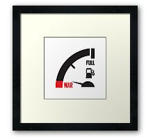 just a mile away from war Framed Print