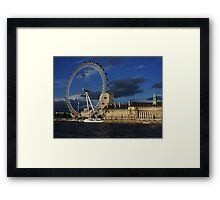 London Eye and County Hall Framed Print