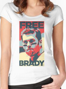 Free Brady Deflate Gate Tom Patriots Women's Fitted Scoop T-Shirt