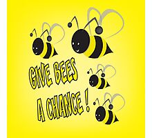 Give bees a chance Photographic Print