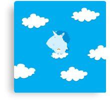 baby unicorn Canvas Print