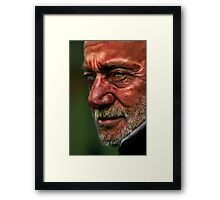 Man at the Zoo Framed Print