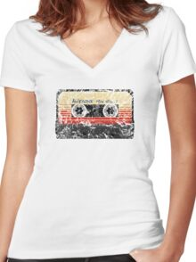 Awesome, Mix Tape Vol.1 Women's Fitted V-Neck T-Shirt