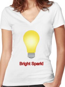 Bright Spark Women's Fitted V-Neck T-Shirt