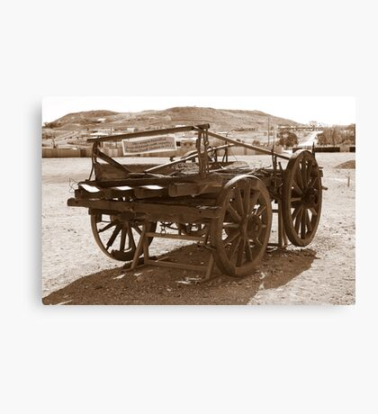 Horse drawn wagon Canvas Print