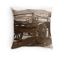 Horse drawn wagon Throw Pillow