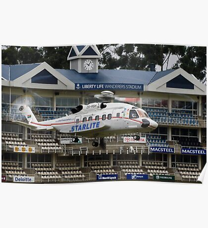 Sikorsky S-92 @ The Wanderers Cricket Stadium Poster