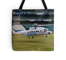 Sikorsky S-92 Landing at The Wanderers Cricket Stadium Tote Bag
