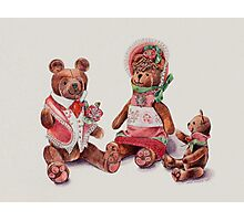 The Bear Family Photographic Print