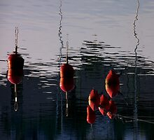 Red buoys by Bluesrose