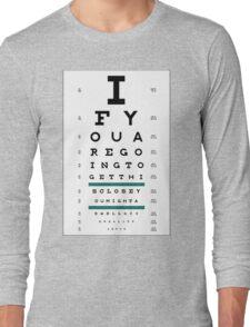 Hug Eye Chart Long Sleeve T-Shirt