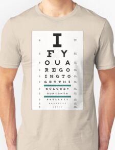 Hug Eye Chart Unisex T-Shirt